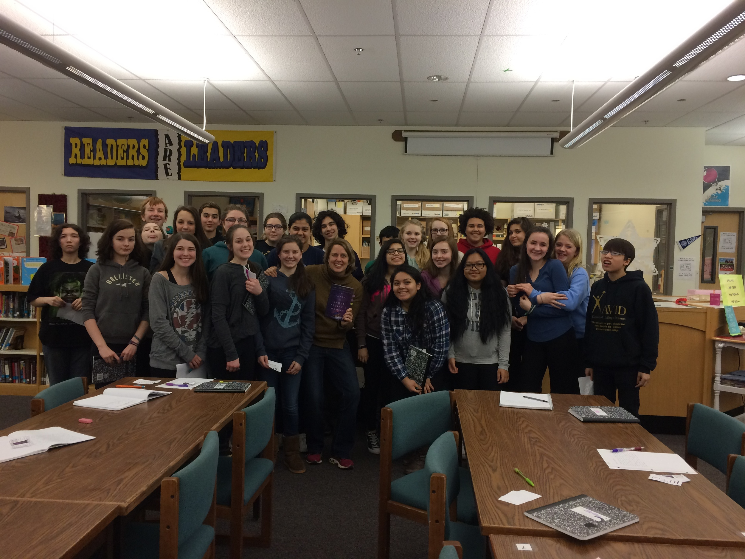 Amazing students of Floyd Dryden Middle School in Juneau Alaska. Great questions and writing by this class. (Photo: Sam Davis)