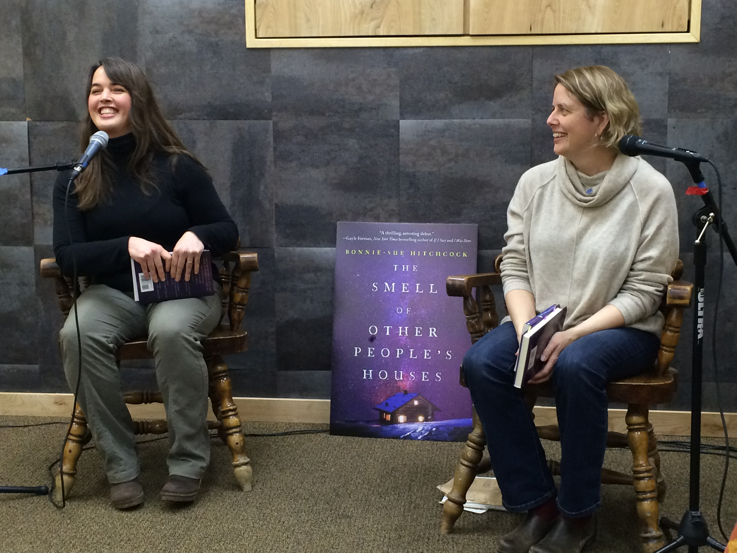 Q & A with the lovely Eowyn Ivey, author of the SNOW CHILD. Thanks to Fireside Books in Palmer, AK. (Photo by: Jessica Cochran)