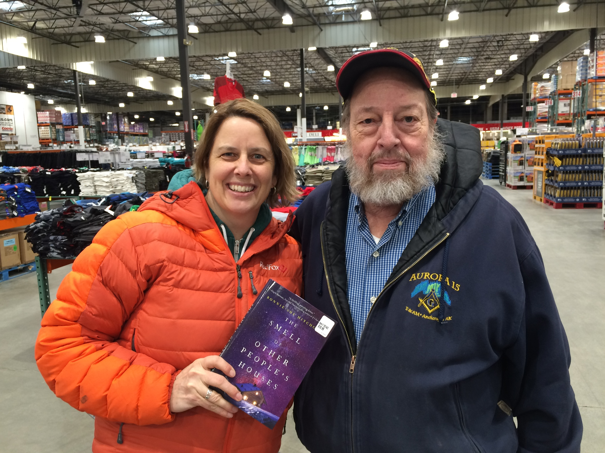 You meet the coolest people doing signings at Costco in Anchorage. This is Al. His book  Lost Brothers  is coming out next month! (photo: Tim, Costco manager)
