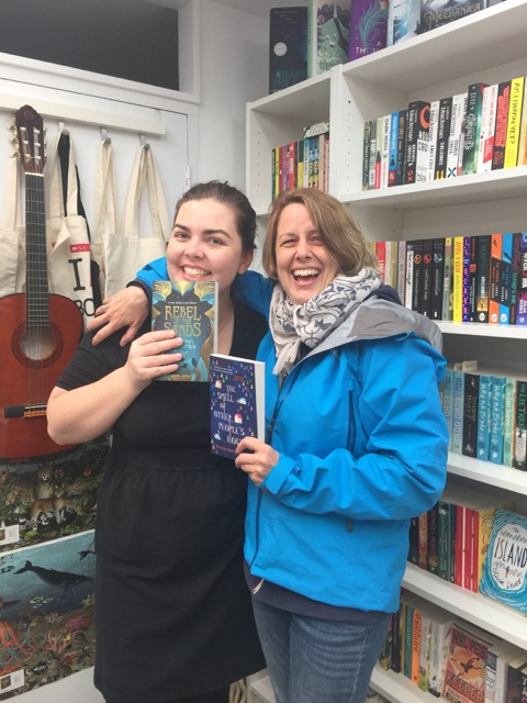 Alwyn Hamilton, author of REBEL OF THE SANDS, and my agent sister. Photo: Molly Ker Hawn