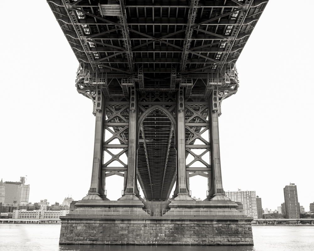 Under Manhattan Bridge B&W