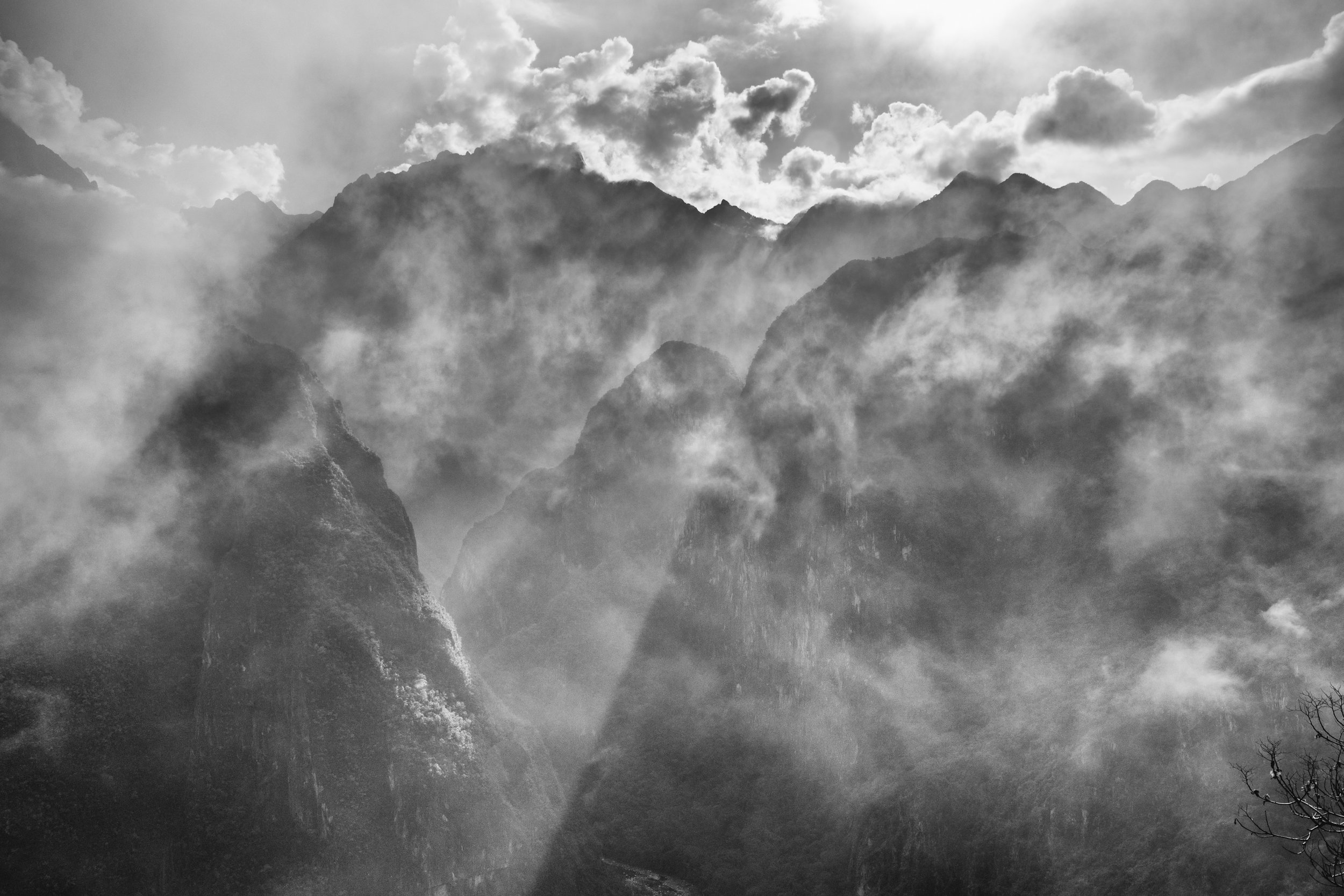 Andes in Mist
