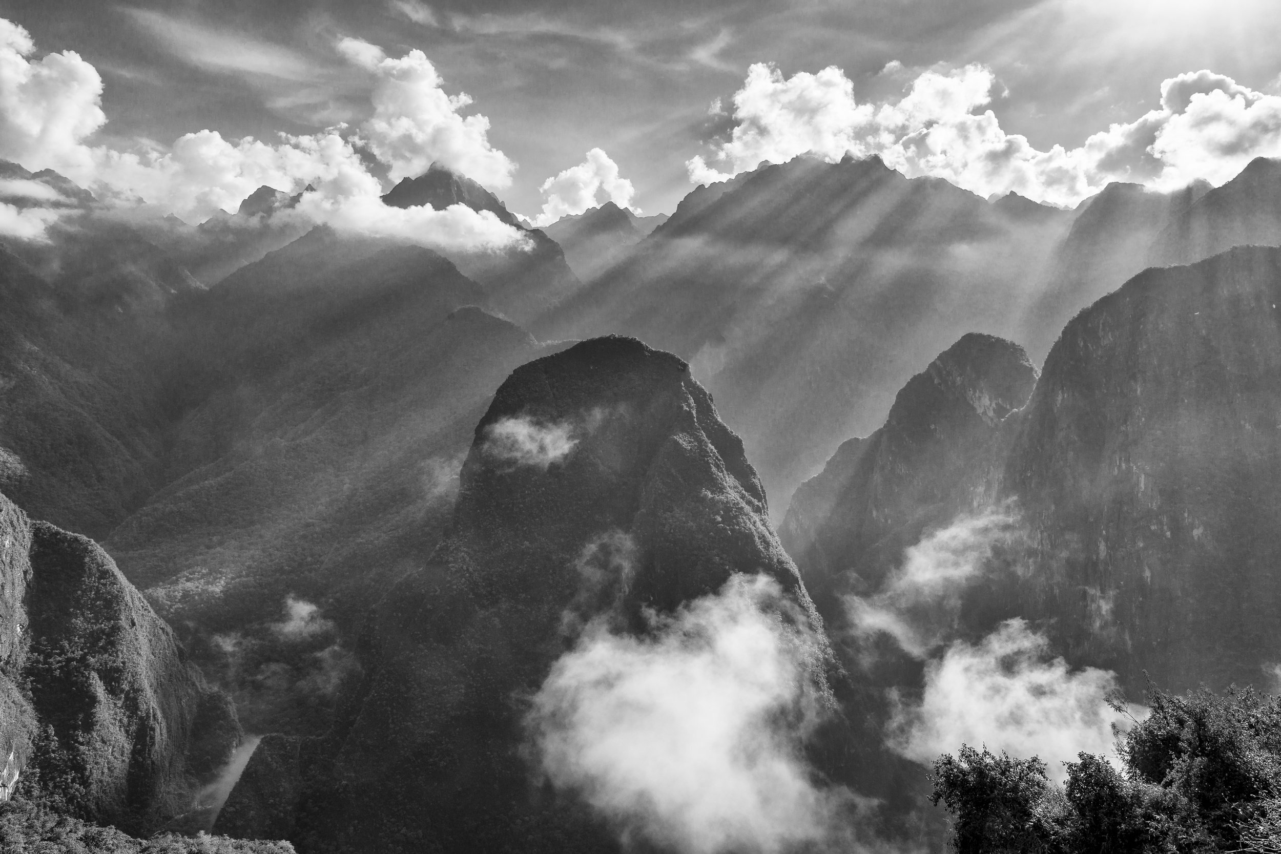 Andes in Mist 2