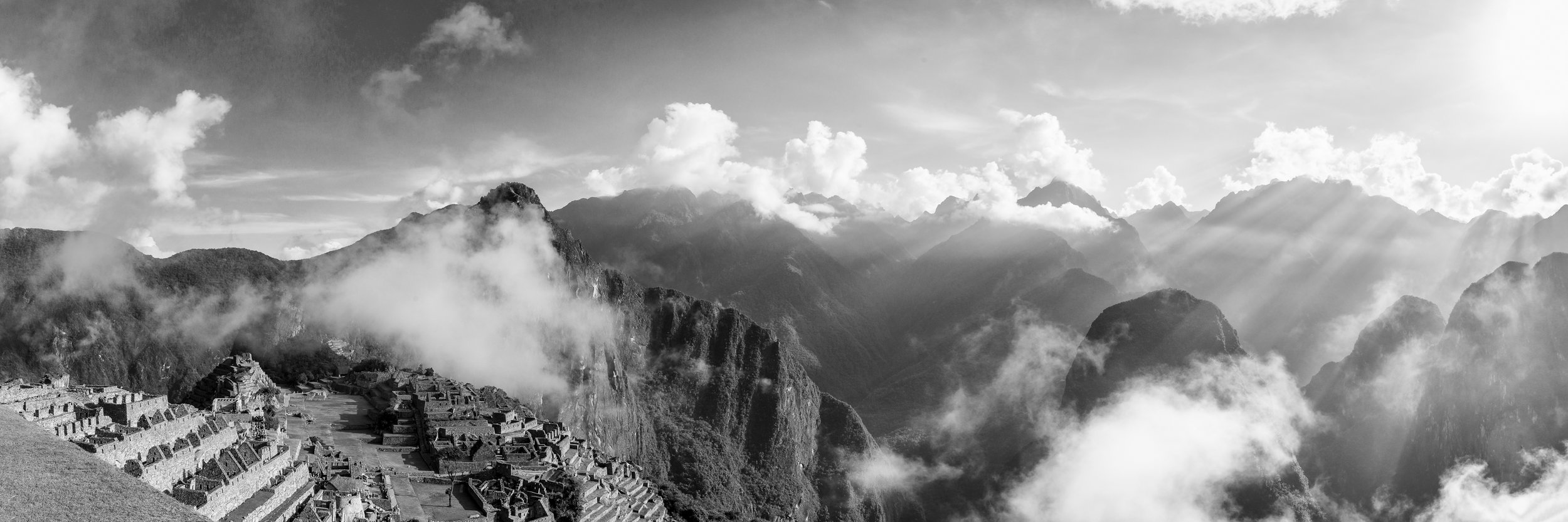 Cloud Citadel B&W  Size: 20 x 60 or 40 x 120 inches  Fujiflex Print; Acrylic Trans-mount  Available as limited edition of 100 prints