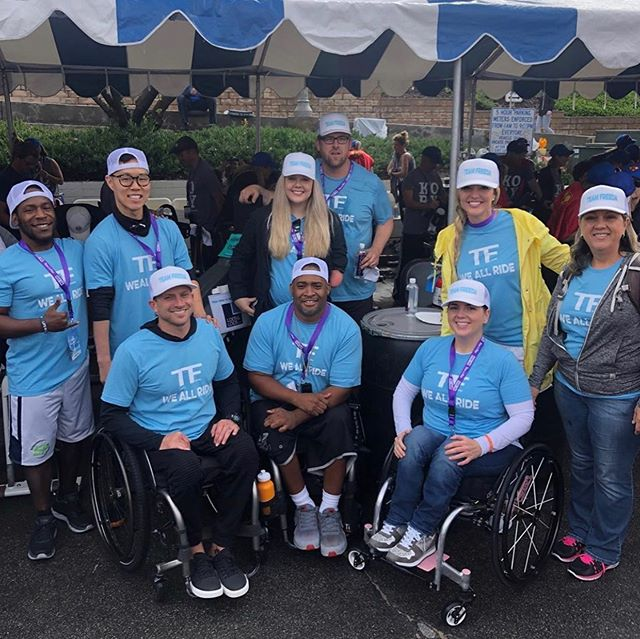 Me and the rest of these adaptive athletes had a great time raising money and awareness for cancer victims and their families at the @tourdepier  A few more adaptive athletes were on our team but didn't make the photo @melal55 @ryen_equalityorbust 💪 Just want to give a big shout out to @freedarocks for being the visionary behind this great cause. Thank you Allison for making this happen! #teamfreeda #pushing4independence #adaptiveathletes #cancersucks #tourdepier
