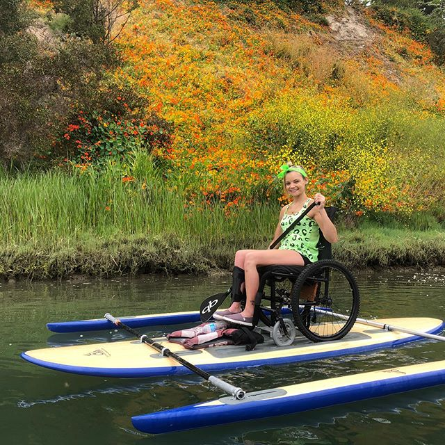 Be sure to join us on the water tomorrow from 9am-12pm!!! We will be at the Newport aquatic center. #pushing4independence #adaptivepaddleboarding #adapt #newportaquaticcenter #qbpaddles