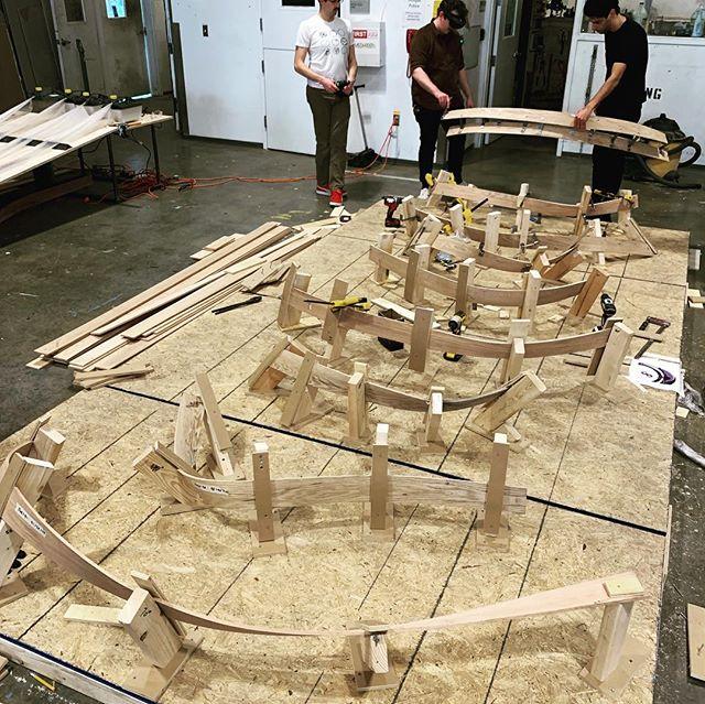 #woodworking #steam #bend #sculpture #architecture #festool #wip @sculpturetyler