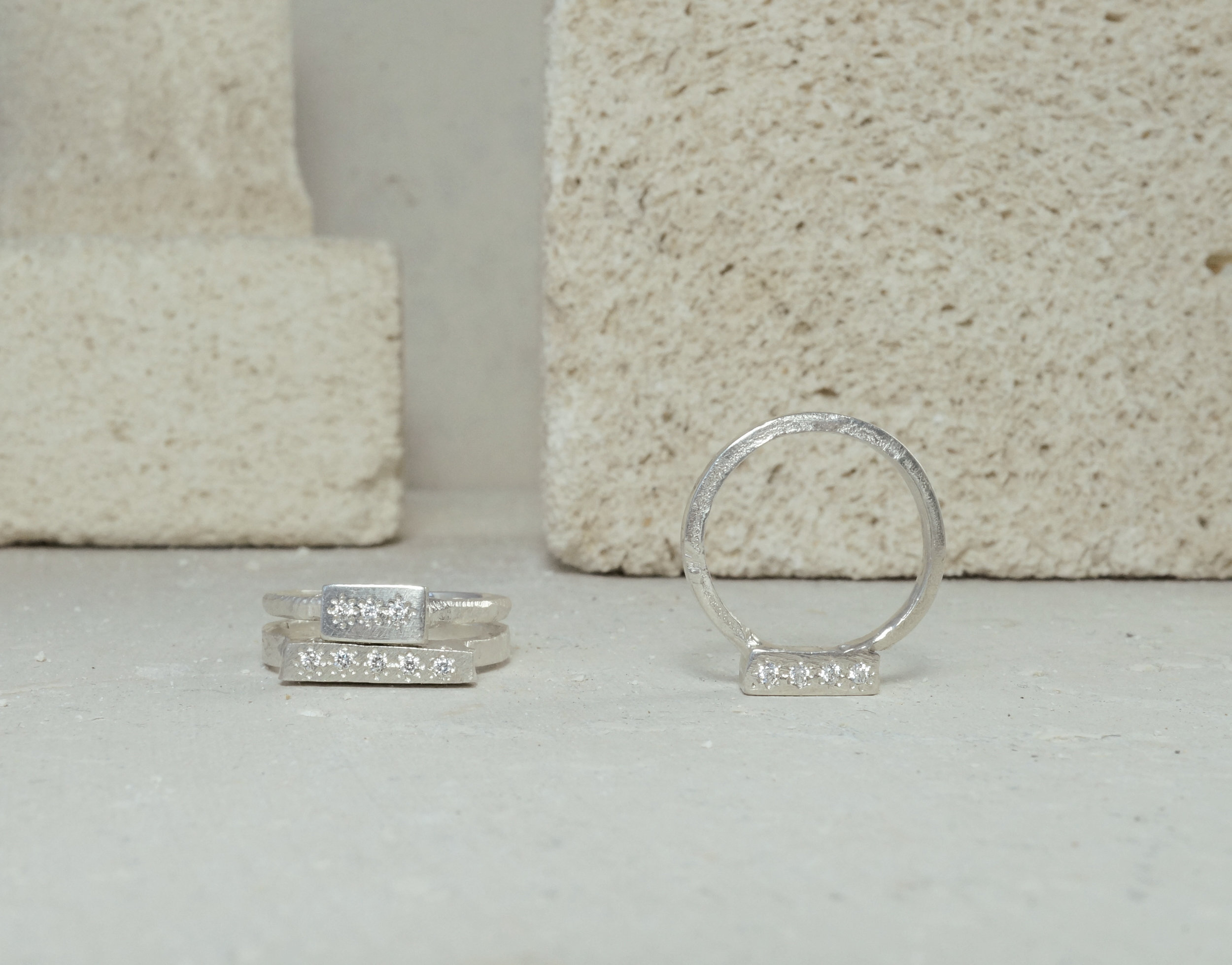 Alexandra Dodds Jewellery Bedrock Rings