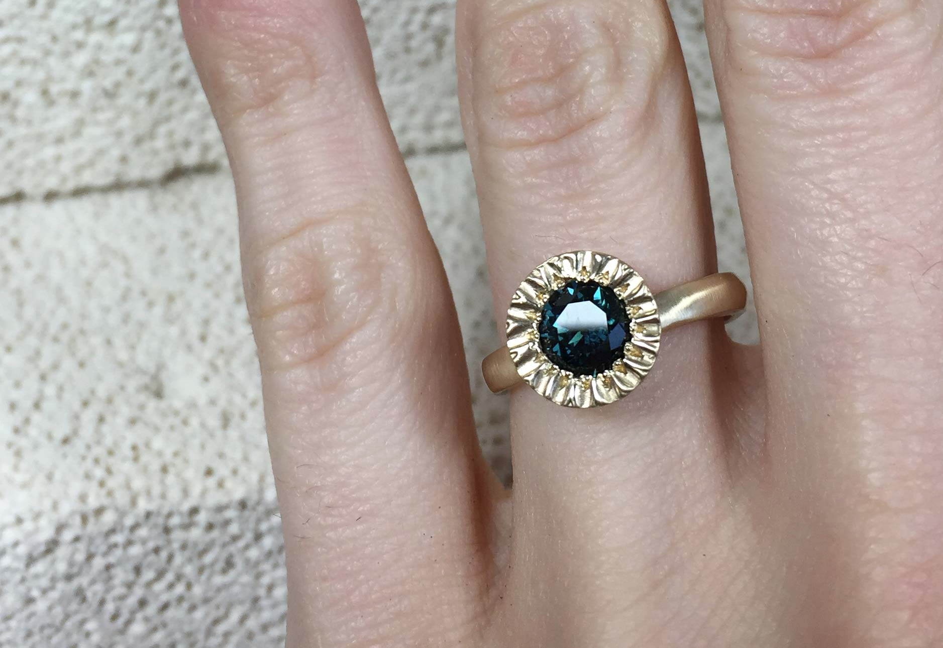 Unique Sapphire Engagement Ring