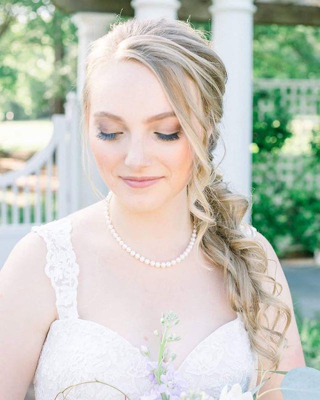 Swooning over Amanda's stunning wedding photos! One of my favorite shots captured by @haylienoelle  Hair: @upsanddos. Airbrushed with all @temptu products . . . . #makeupbynorelleb #upsanddos #carolinabride #ncbride #ncmua #scmua #charlotteweddingvendors #charlottebeauty #charlottemakeupartist #scmua #scbride #onlocationartist #temptupro #weddingmakeup