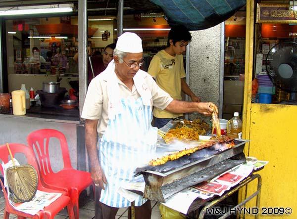 Satay man, Kuala Lumpur