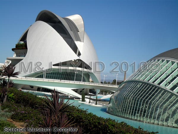 spain Valencia City of Arts and Sciences,  El Palau de les Arts Reina Sofía, L'Hemisfèric, museum
