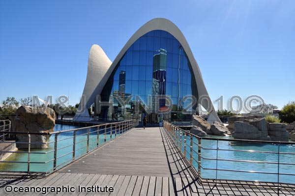 spain Valencia City of Arts and Sciences, oceanographic institute, surrounded by pools, museum