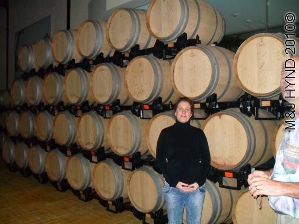 spain Jumilla, Murcia, wine route Hacienda del carche Bodegas wine tour aging wine oak barrel