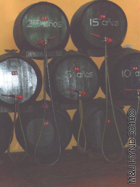 spain Jumilla, Murcia, wine route Bodegas Silvano Garcia wine tour, aging wine in oak barrels
