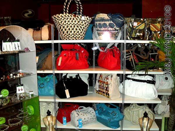 spain santa Pola in town shop for handbags