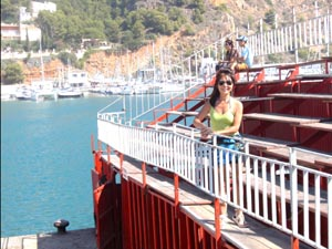 Jacq on the stands: spain Javea Fiesta, Bous a la Mar, bullring Javea port