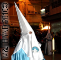 spain Santa Pola Elche Alicante Easter Week Semana Santa, Palm Sunday to Easter Monday don pointy hats, hoods, capes in solemn religious parades and processions festival