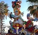 spain Alicante Hogueras de San Juan fiesta bonfires festival gigantic caricature statues in Alicante's marina