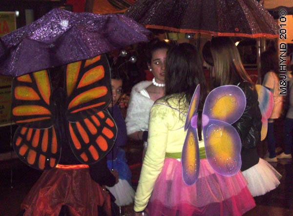 butterflies: spain Alicante Carnival Fiesta, Costa Blanca, many butterflies costume, festive cheer
