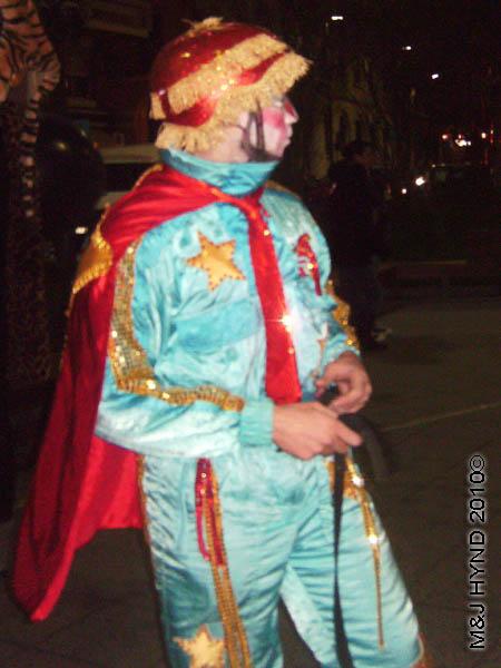 spaceman: spain Alicante Carnival Fiesta, Costa Blanca, Captain Spaceman costume, festive cheer