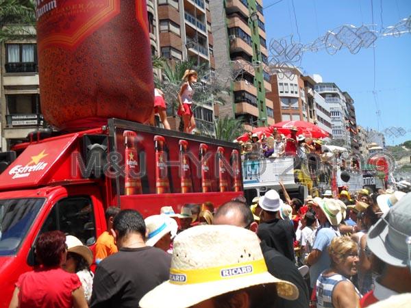 Spain Alicante Fiesta Hogueras de San Juan Bonfires of Saint John