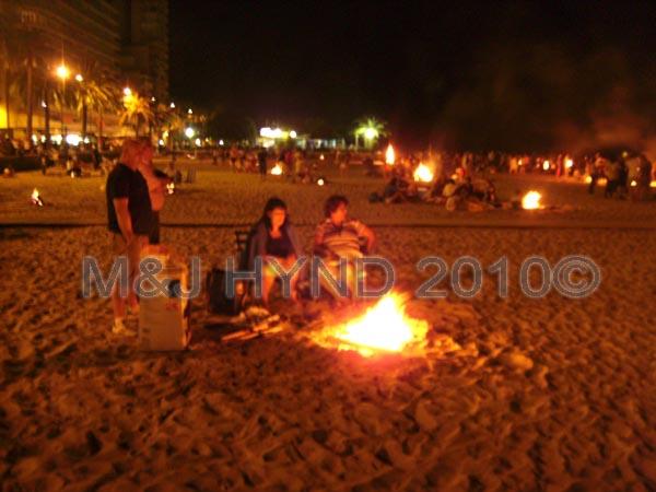 santa pola beach: Spain Santa Pola Fiesta Hogueras de San Juan Bonfires of Saint John bonfires along beach