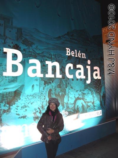 spain elche Fiesta Belen Christmas Nativity, poster, side of Bancaja Belen, Nativity scene