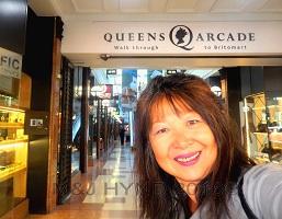 Auckland NZ Britomart train station through Queens Arcade specialty stores