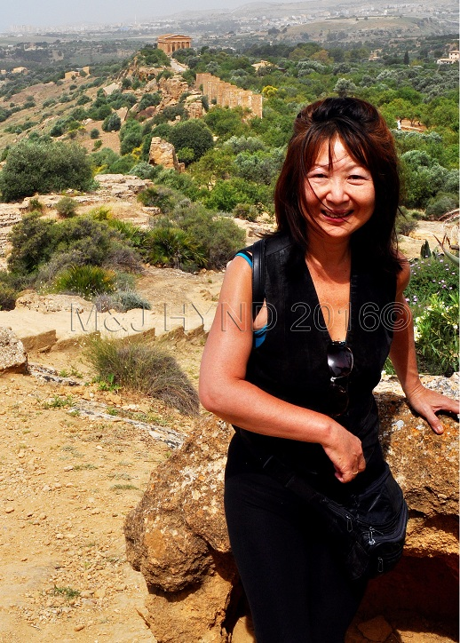 Agrigento, Sicily.. see A temple quite a long way behind me, on the distant crest of the hill