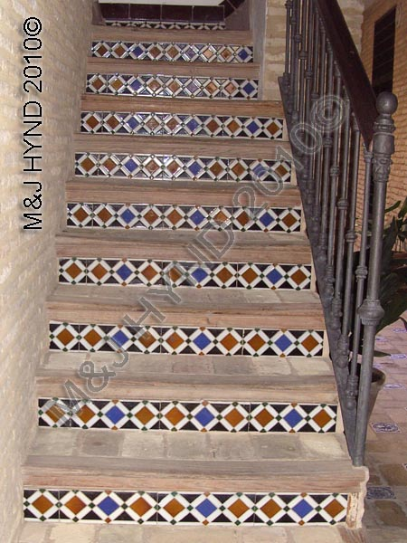 'Azulejo' tiled staircase, Seville, Spain
