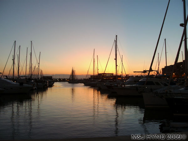 Spain Costa Blanca Santa Pola marina at dusk