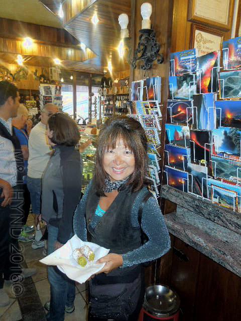 Sicily: cannoli on Mt Etna