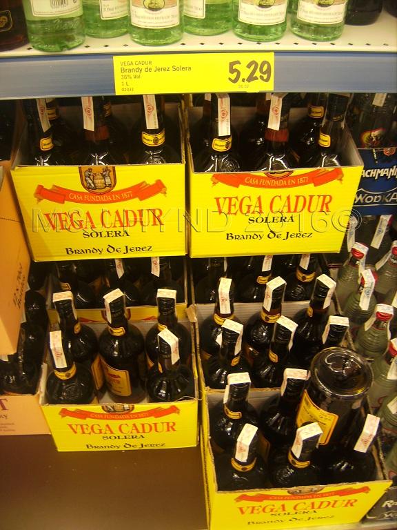 Supermarket - very cheap spirits