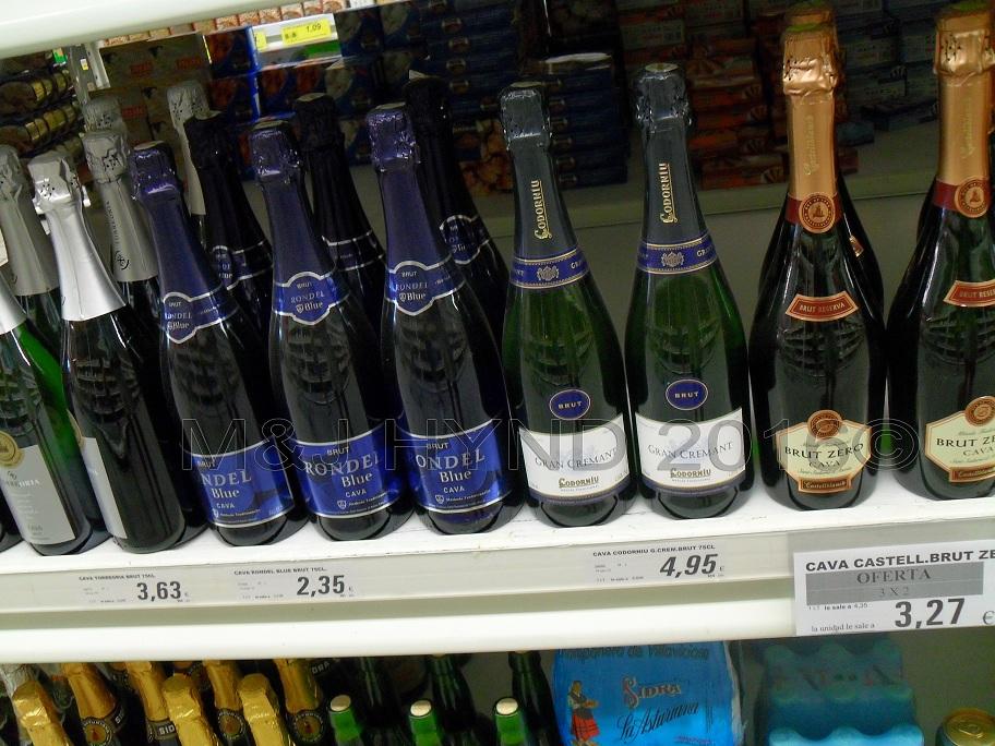 Supermarket - very cheap cava