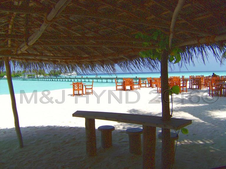 beach shack drinks bar, Sun Island, Maldives