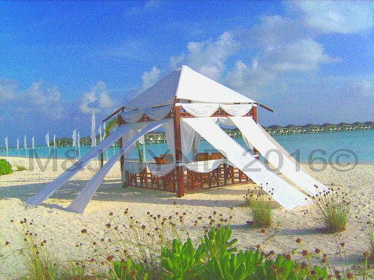 Maldivian beach wedding venue, Sun Island, Maldives