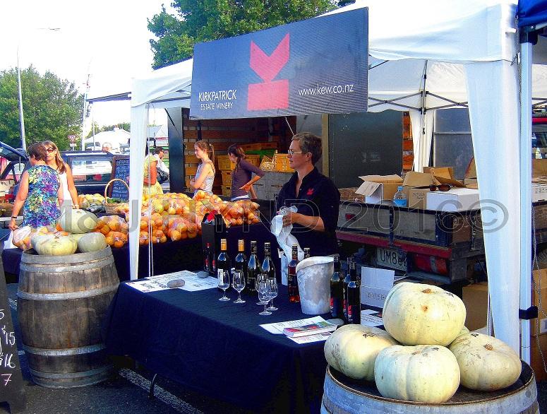 Kirkpatrick winery, Gisborne Farmers Market, NZ