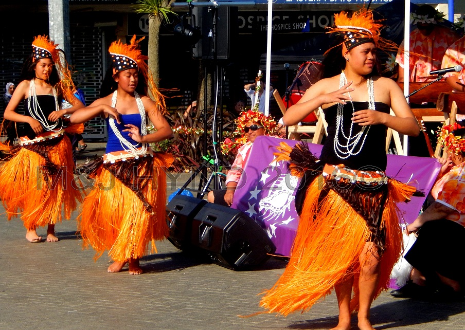 cultural Cook Islands dance troupe, Glen Innes, Auckland, NZ
