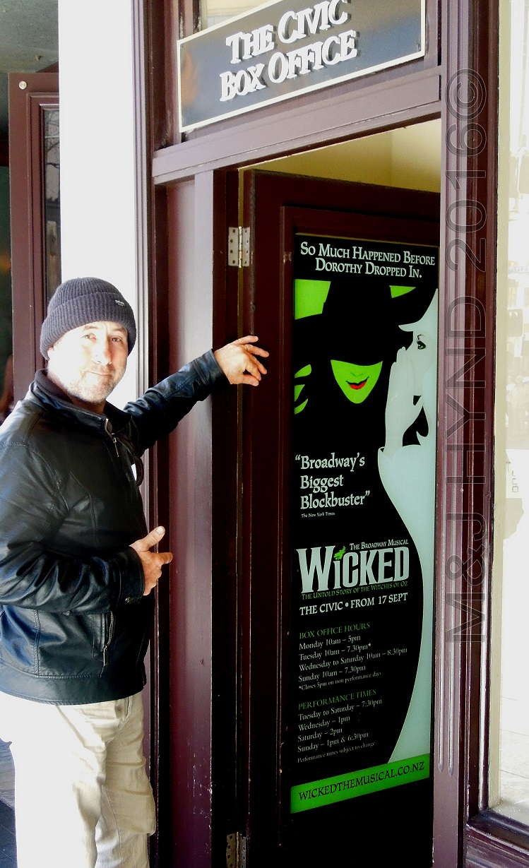 Civic Theatre Box Office, Wicked musical, Auckland, NZ