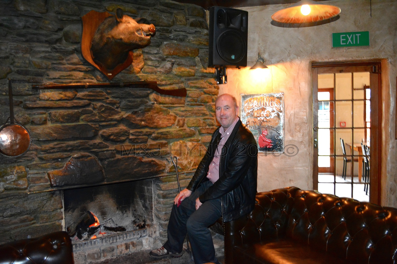 hearty fireplace inside Cardrona Hotel, Cardrona, NZ