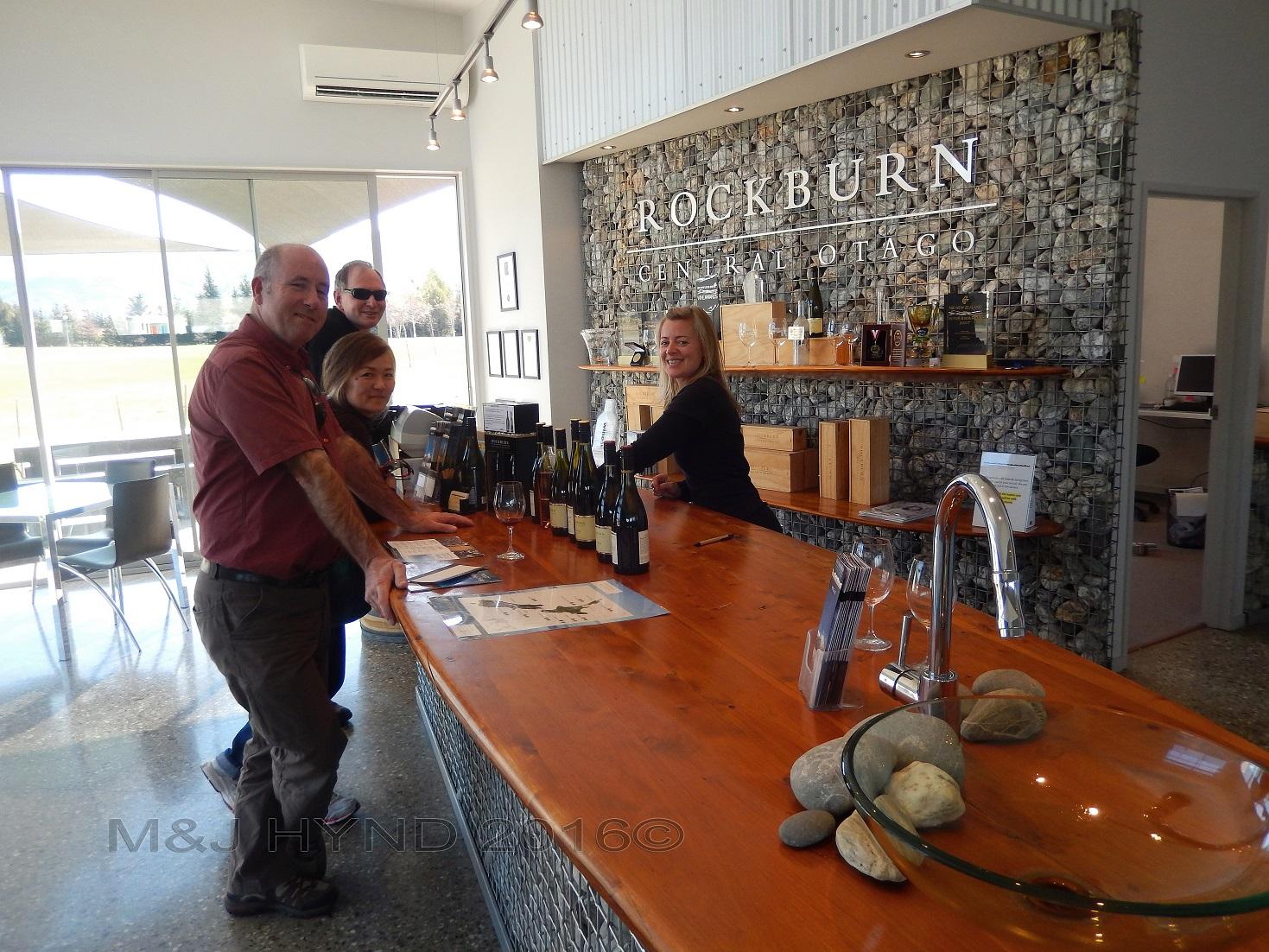 Rockburn Winery tasting, Cromwell, Central Otago, NZ