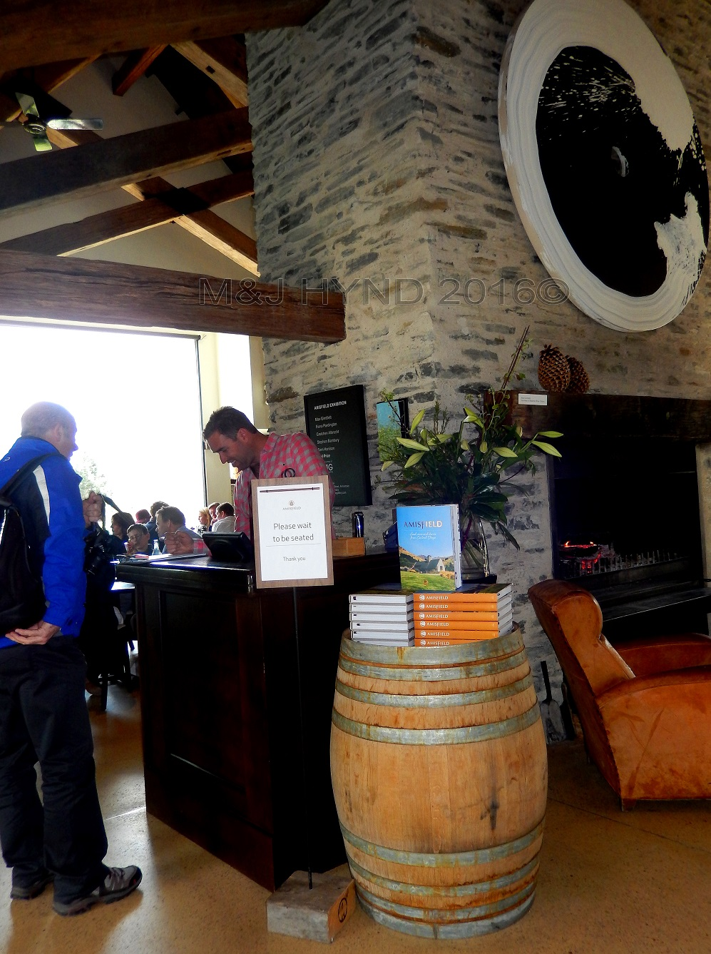 Amisfield Winery restaurant, Lake Hayes, Central Otago, NZ