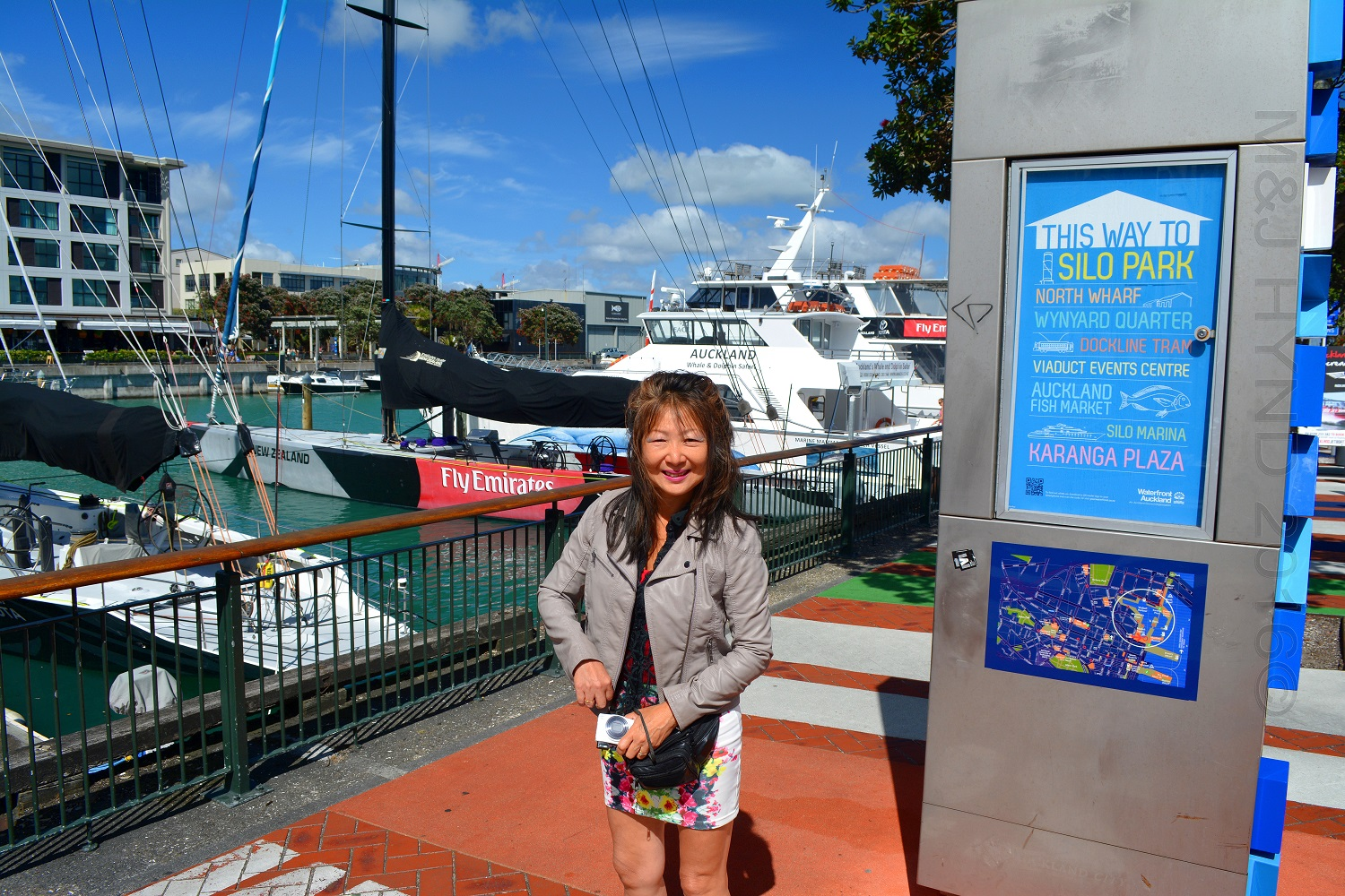 Viaduct Harbour, Americas Cup boats, Auckland, NZ
