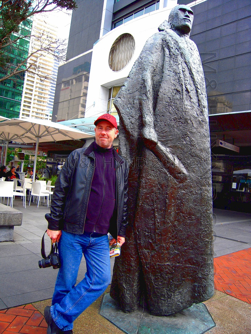 waterfront Maori warrior statue, Auckland, NZ