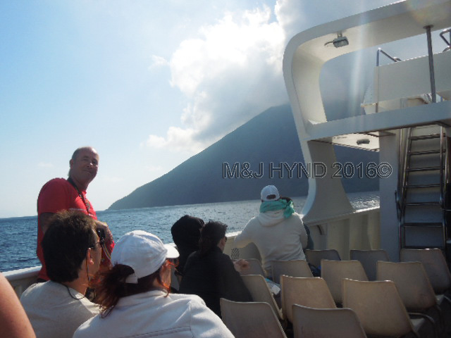 Mt Stromboli from the boat, Sicily, Italy