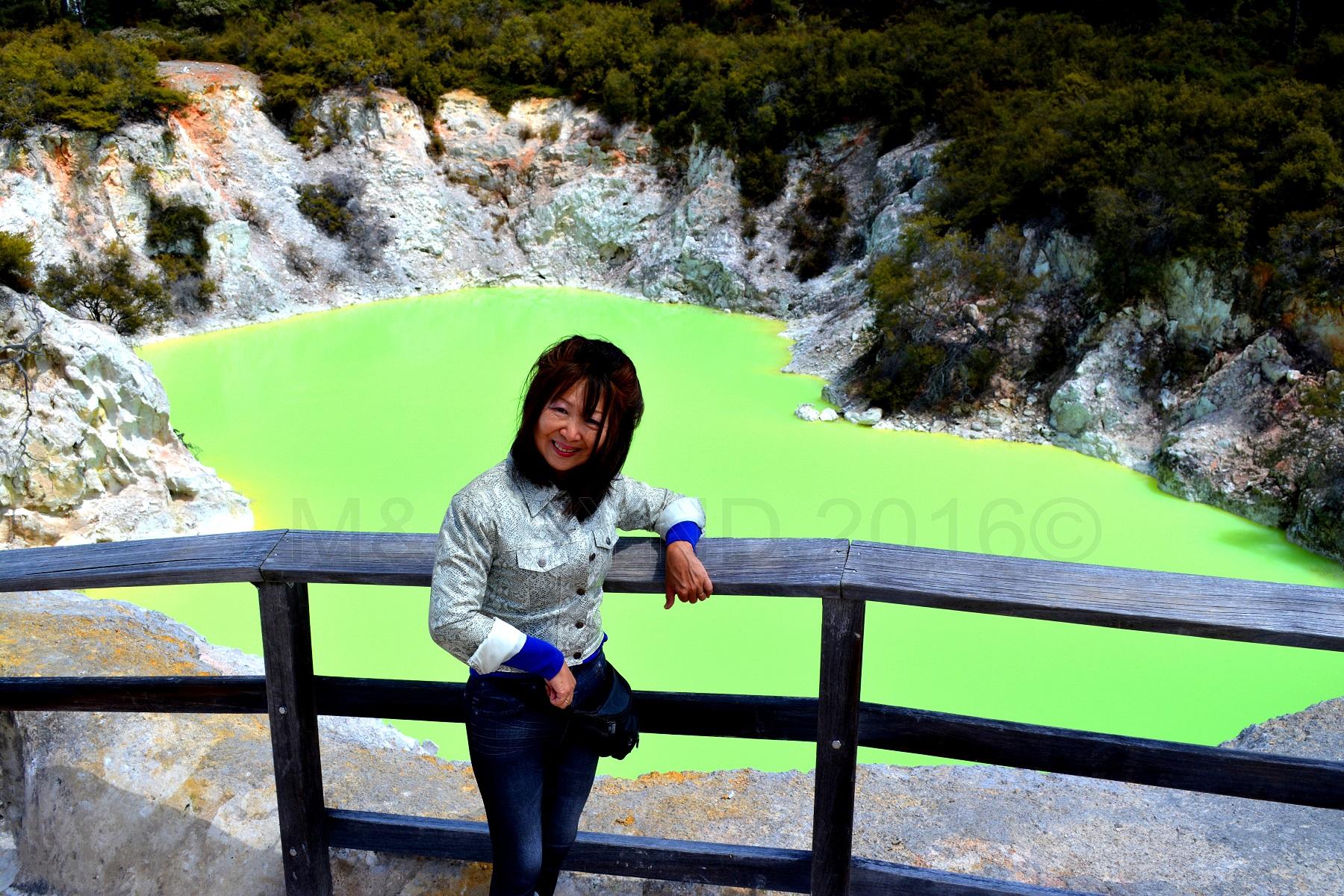 Green pool, Wai-o-tapu Thermal Wonderland, Rotorua, NZ