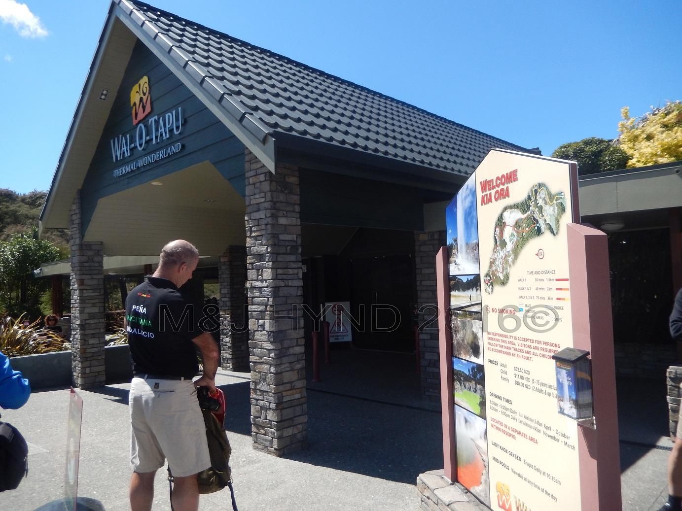 Wai-o-tapu Thermal Wonderland entrance, Rotorua, NZ