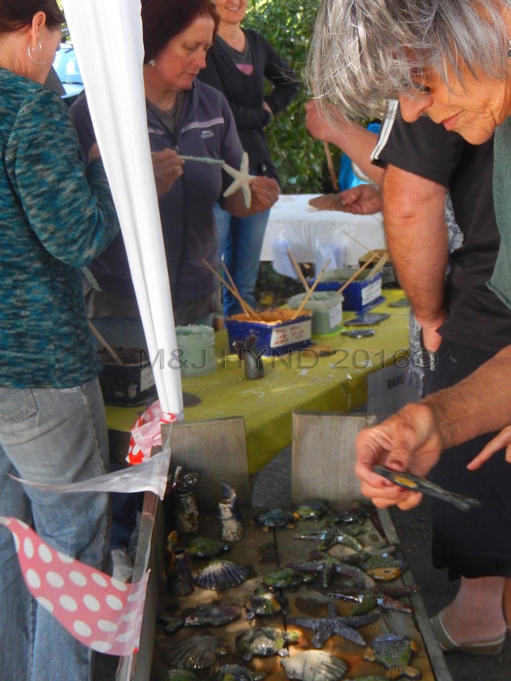 ASP Big Clay Day Out, raku firing, Auckland, NZ