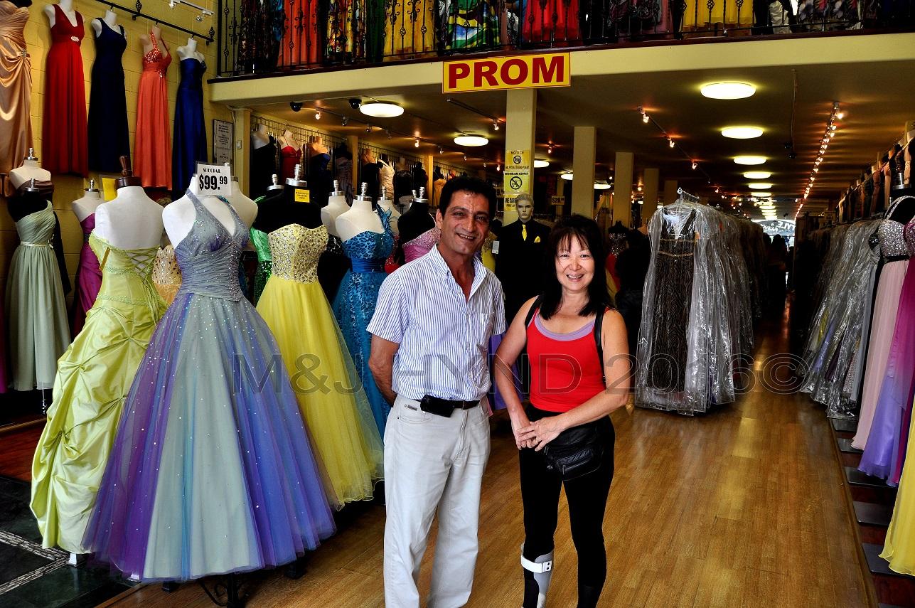 millions of prom dresses, Fashion District, LA, USA